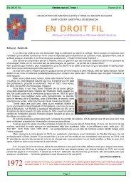 En droit fil 2012 - Site web du groupe scolaire St Joseph - St Paul