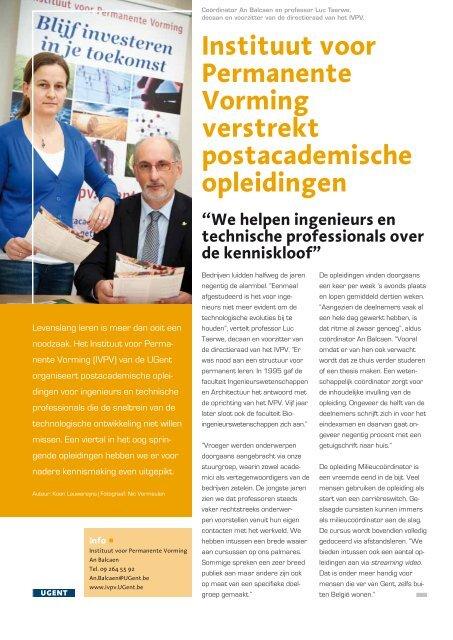 Instituut voor Permanente Vorming verstrekt postacademische ...