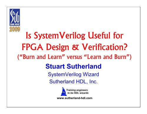 Is Systemverilog Useful For Fpga Design Sutherland Hdl