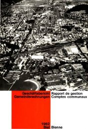Geschäftsbericht der Stadtverwaltung Biel 1962 - Stadt Biel