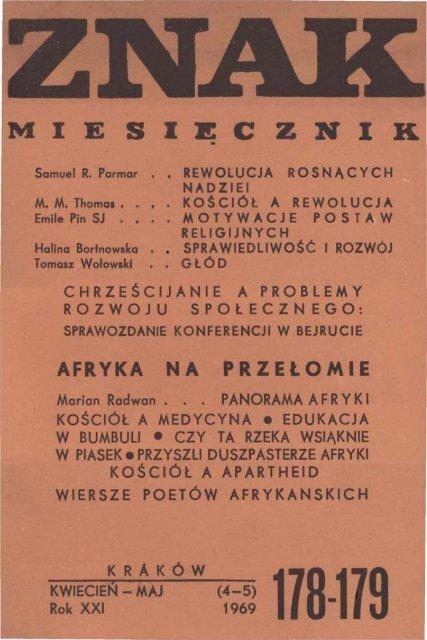Nr 178 179 Kwiecieå Maj 1969 Znak