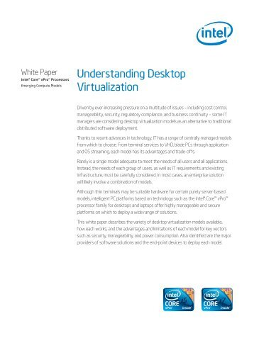 Understanding Desktop Virtualization - Intel