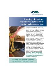 Loading of Vehicles to Achieve Satisfactory Brake Performance Test