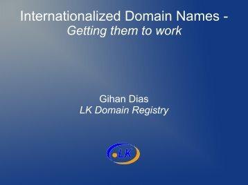 Internationalized Domain Names -
