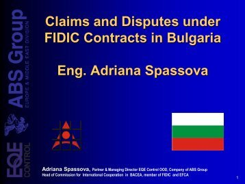 Claims and Disputes under FIDIC Contracts in Bulgaria Eng ...