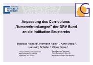 Anpassung des Curriculums Tumorerkrankung der DRV Bund an ...