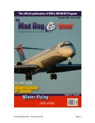 The Mad Dog Growl – Dec 05/Jan 06 Page 1 - Delta Virtual Airlines