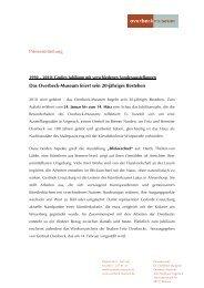 Pressemitteilung Das Overbeck-Museum feiert sein 20-jähriges ...