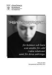 Handlingsprogram Handlingsprogram - Jönköpings kommun