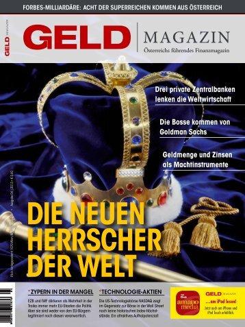 drei private Zentralbanken lenken die ... - GELD-Magazin