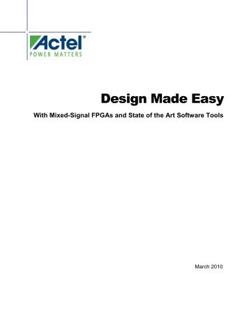 Design Made Easy with Mixed-Signal FPGAs and ... - Acal Technology