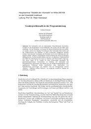 Genderproblematik in der Programmierung - Fachgebiet Didaktik ...