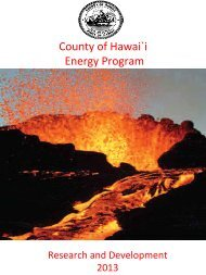 Page 1 County of Hawai`i Energy Program Research and Development ...
