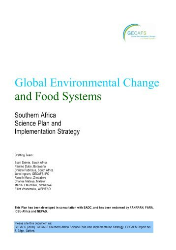 Global Environmental Change and Food Systems