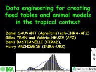 Data engineering for creating feed tables and animal models ... - Inra
