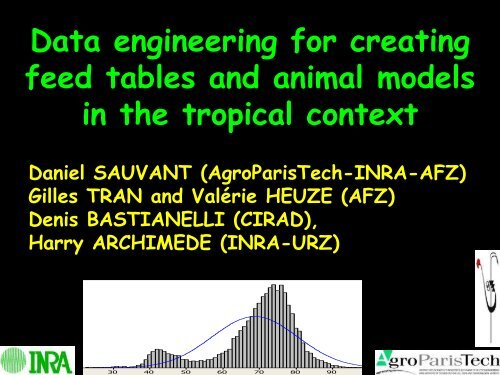 Data engineering for creating feed tables and animal models