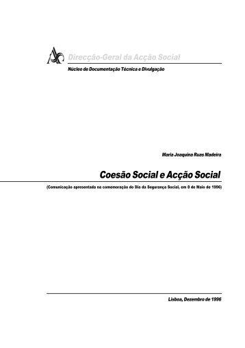 Coesão Social e Acção Social.p65 - Segurança Social