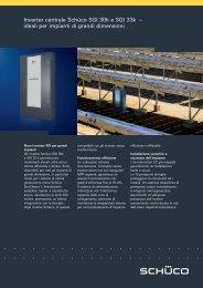 Inverter centrale Schüco SGI 30k e SGI 33k – ideali per ... - Edilio