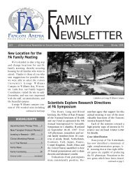 FA Family news 2/98 - Fanconi Anemia Research Fund