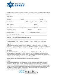 All information must be completed (one sheet per ... - JCC East Bay