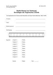 Klausur am 28.02.2011 - Organische Chemie - Christoffers