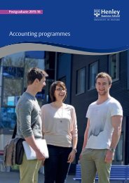 Download brochure - Henley Business School
