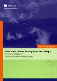 Post-Conflict Power Sharing: The Case of Nepal - PRIO