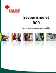 Secourisme et RCR - Canadian Red Cross