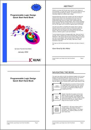 Programmable Logic Design Quick Start Hand Book ABSTRACT ...