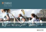 Annual Review 2007 - 2008 - Cambridge University Sport ...