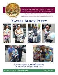 June 23, 2013 - Church of St. Francis Xavier