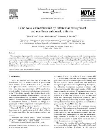 Lamb wave characterization by differential ... - CiteSeerX