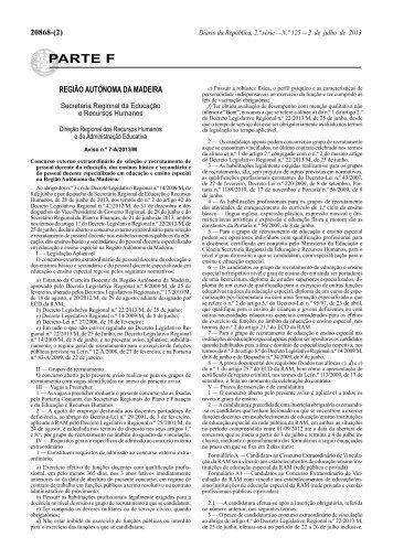 Aviso n.º 7-A/2013/M - Diário da República Electrónico