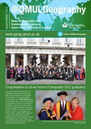 Autumn 2012 issue - School of Geography - Queen Mary University ...
