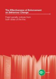 The Effectiveness of Enforcement on Behaviour ... - Keep Britain Tidy