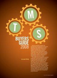 TMS Buyers Guide 2008 - Inbound Logistics