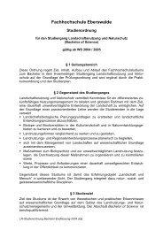 Fachhochschule Eberswalde - HNE Eberswalde