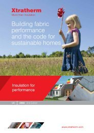 The Code for Sustainable Homes - Xtratherm