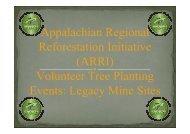 Mined Land Reforestation for Watershed Restoration - ARRI