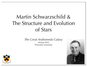 Martin Schwarzschild & The Structure and Evolution of Stars