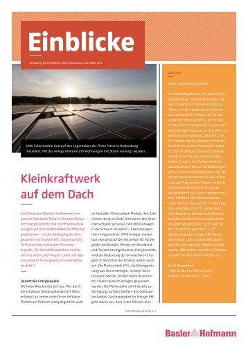 Einblicke, 11/2011 (pdf) - Basler & Hofmann