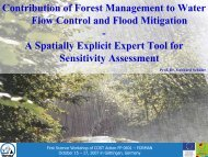 Runoff from forest roads - Forest Management and the Water