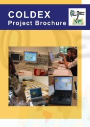 COLDEX Project Brochure and Teacher's Guide (Part I) - Coldex.info