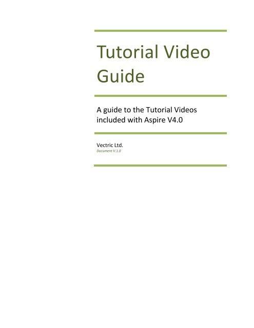 Tutorial Guide Document (PDF - 2Mb) - Vectric