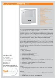 Erweiterungsmodul STECA TE A603.indd - Solmaxx