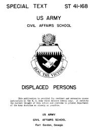 ST 41-168 Displaced Persons - U.S. Army