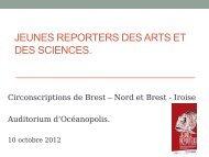 Jeunes Reporters des Arts et des Sciences - Inspection académique ...