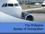 The Philippine Bureau of Immigration - Bali Process