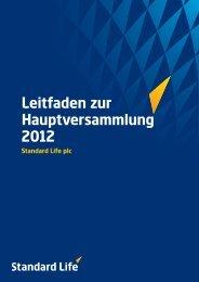 Leitfaden zur Hauptversammlung 2012 - Standard Life