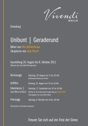 Unibunt | Geraderund - Vivendi Lebens-Art